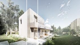 Exterior renderings for Kupelny Park, Kovacova